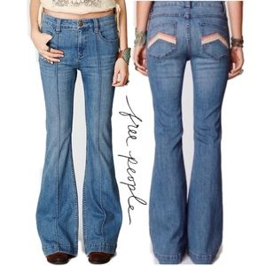 🎉HP🎉Free People Jeans Pintuck Flare La Disco